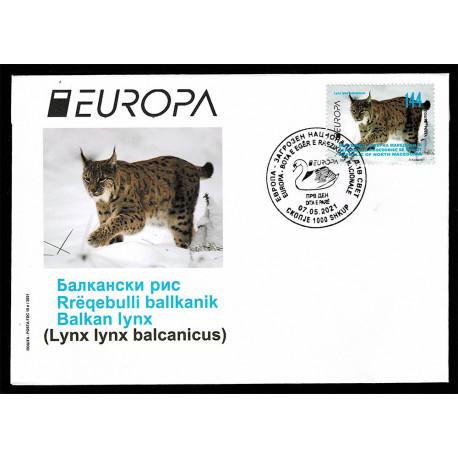 2021 Macedonia fauna nazionale - emissione Europa FDC