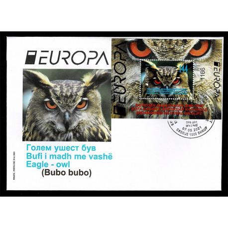 2021 Macedonia fauna nazionale - emissione Europa FDC Foglietto