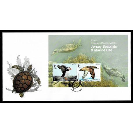 2021 Jersey fauna nazionale - emissione Europa FDC