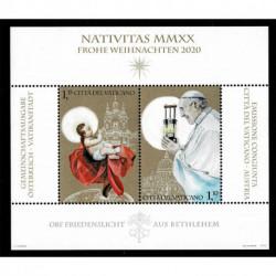 2020 Vaticano tematica Natale congiunta con Austria Foglietto