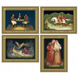 2021 Russia serie Arte Decorativa tematica Pittura Fedoskinskaya