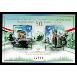 2020 Ungheria Congiunta (Joint Iusse) Singapore tematica Ponti Foglietto