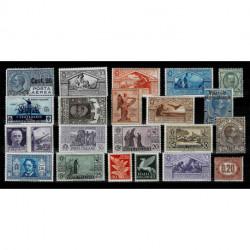 Regno - Insieme di francobolli nuovi con traccia di linguella MH/*
