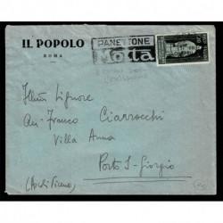 1950 Guido d'Arezzo isolato lettera da Roma a Porto S.Giorgio 2° giorno