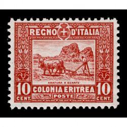 1928 Colonie Eritrea soggetti africani 10 cent Sas.130 MNH/**