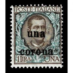 1919 Dalmazia Sas.1 floreale soprastampato una corona MNH/**