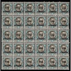 1919 Dalmazia Sas.1 floreale soprastampato Blocco 30 MNH/**