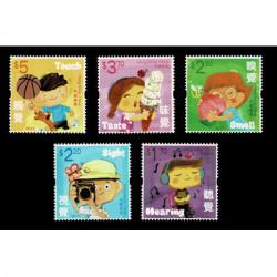 2017 Hong Kong - pro infanzia - 5 sensi unusual stamps