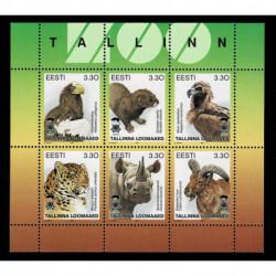 1997 Estonia Animali dello Zoo di Tallin foglietto MNH/**