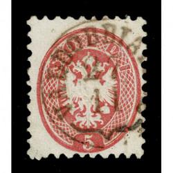 1864 ASI Lombardo Veneto 5 soldi Sas.43a Valdobbiadene CO punti 9