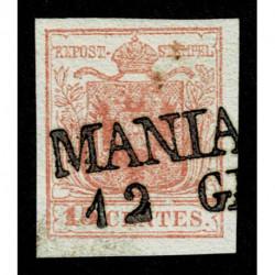 1850 ASI Lombardo Veneto 15cent II tipo annullo Maniago SD (5pt)