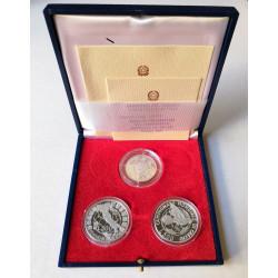 1990 Monete Celebrative Mondiali calcio Italia 90 - Cofanetto