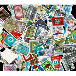 Nazioni Unite Lotto 100 francobolli nuovi differenti annullati