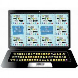 2021 Belgio No al bullismo foglietto forma laptop