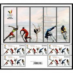 2021 Belgio foglietto Olimpiadi Tokyo2020