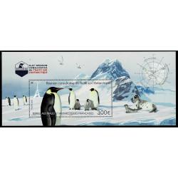 2021 TAAF Trattato Antartico pinguini unusual glitterato