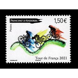 2021 Principato d'Andorra ciclismo Tour de France MNH/**