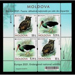 2021 Moldavia fauna nazionale - emissione Europa Foglietto