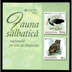 2021 Moldavia fauna nazionale - emissione Europa Libretto