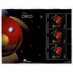 2002 Portogallo Emissione Europa - Il Circo foglietto