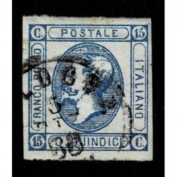 1863 Regno 15cent Litografico II tipo varietà 'C' chiusa