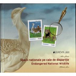 2021 Romania fauna nazionale Folder Speciale RARO