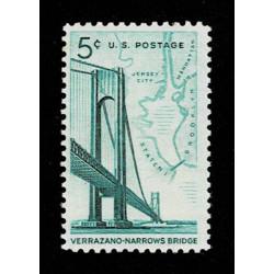 1964 Stati Uniti Ponte Verrazzano 1° congiunta italiana MNH/*