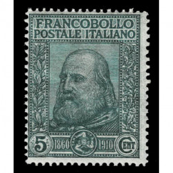 1910 Regno Giuseppe Garibaldi Sas.87 nuovo MNH/**