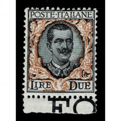 1923 Regno 2 Lire serie floreale Sas.150 nuovo MLH/*
