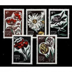 1965 URSS CCCP tematica fiori serie MNH/**