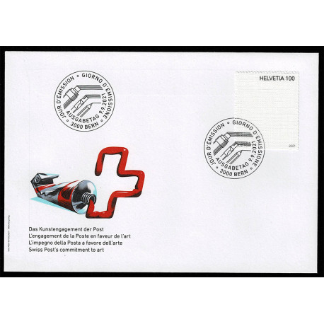 2021 Svizzera Unusual stamps francobollo di tela FDC