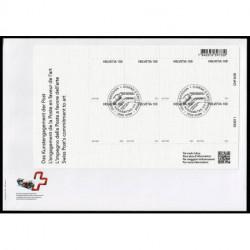 2021 Svizzera Unusual stamps francobollo di tela FDC foglietto
