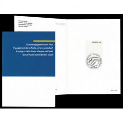2021 Svizzera Unusual stamps francobollo di tela annullo speciale