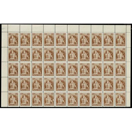 1919 Fiume 40c Sas.52 foglio 50 esemplari MNH/**