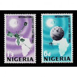1965 Nigeria International Quiet Sun Anni Spazio serie MNH/**