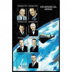 1999 Nicaragua Esplorazione dello Spazio astronauti foglietto MNH/**