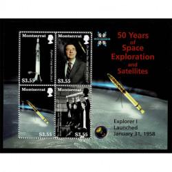 2008 Montserrat esplorazione spaziale foglietto MNH/**