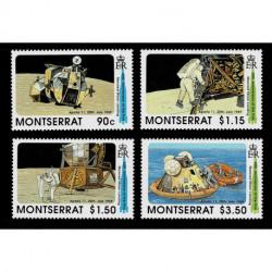 1989 Montserrat 20° primo uomo sulla Luna serie MNH/**