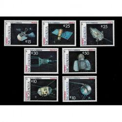 1987 Nicaragua Giornata dei cosmonauti serie Spazio MNH/**