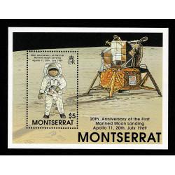 1989 Montserrat 20° primo uomo sulla Luna foglietto MNH/**