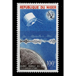 1971 Niger UIT giornata delle telecomunicazioni MNH/**