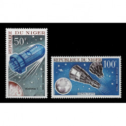 1966 Niger Space shuttle serie MNH/**