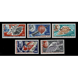 1970 Niger Pionieri dell'aviazione Galileo, Leonardo da Vinci MNH/**