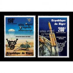1979 Niger Apollo 11 sbarco Luna sovrastampa capovoltà MNH/**