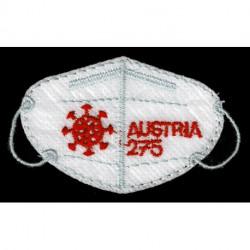 2021 Austria francobollo ricamato mascherina FFP2 - unusual stamps