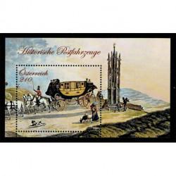2021 Austria Carrozza postale foglietto MNH/**