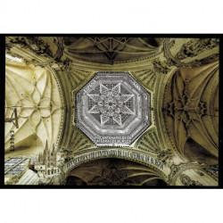 2021 Spagna Cattedrale di Burgos foglietto francobollo ottagonale