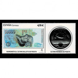2021 Spagna numismatica ultima banconota e moneta in pesata