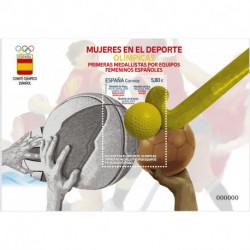 2021 Spagna donne vincitrici sport olimpici foglietto oro e ergento