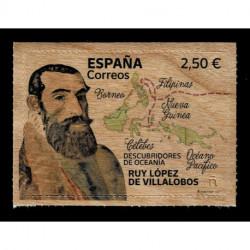 2021 Spagna Esploratori Ruy López de Villalobos francobollo in legno